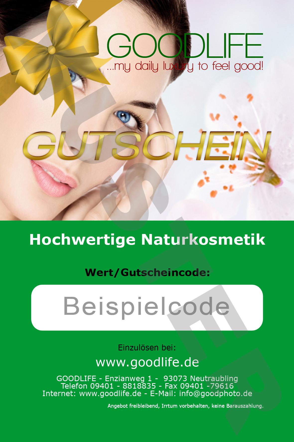 GOODLIFE Hochwertige Naturkosmetik Gutschein