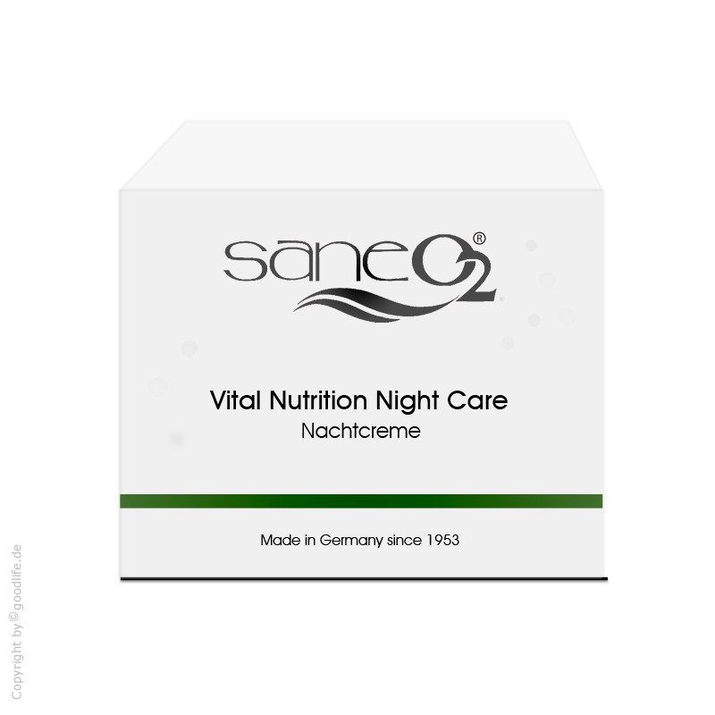 SaneO² Sauerstoffkosmetik Vital Nutrition Night Care, Nachtcreme