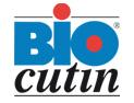 Logo bio cutin Haarkosmetik mit Sauerstoff